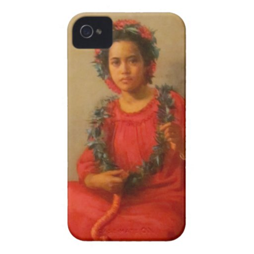 Beautiful Young Lei Seller  In Old Hawaii iPhone 4 Covers
