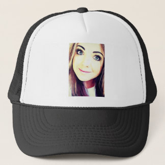 Beautiful Young Woman Trucker Hat
