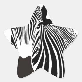 Beautiful Zebra Star Sticker