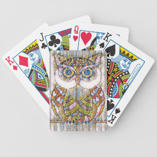 BEAUTIFULL BLUE EYED OWL. BICYCLE PLAYING CARDS