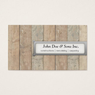 Beautifull Constructions/Carpentry Business Card