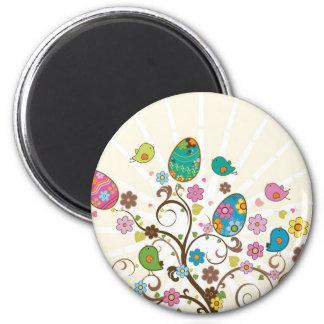 Beautifull East Eggs Design! 6 Cm Round Magnet