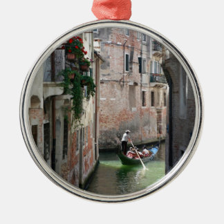 Beautifull Venice Italy Silver-Colored Round Decoration