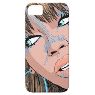 Beautifulll girl watching at you, pop art iPhone 5 case