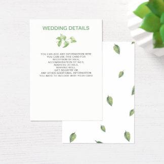Beautifully botanical greenery wedding cards