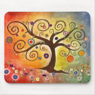 Beautifully Colorful Tree of Life Fine Art Mousepads