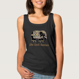 Beautifully decorated Indian elephant for luck Tank Top