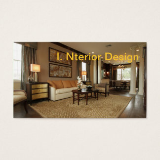 Beautifully decorated interior business card