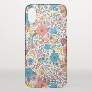 Beautifully Drawn Fun Spring  Flowers. iPhone X Case