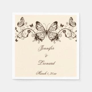 Beautifully Elegant Butterfly Wedding Napkins Disposable Napkin