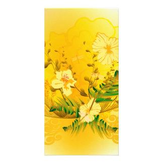 Beautifulsoft yellow flowers photo greeting card