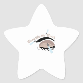 Beautify The Bride Star Sticker