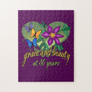 Beauty and Grace 50th Birthday Puzzles