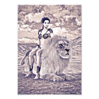 Beauty and Lion Art Photo