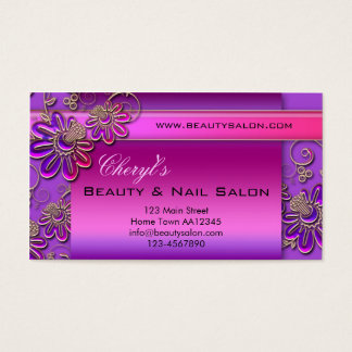 Beauty and Nail Salon Appointment Business Card