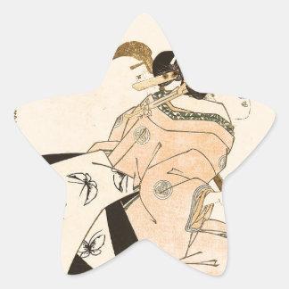 Beauty and Shamisen by Keisai Eisen Star Sticker