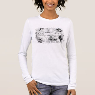 Beauty and the Beast, 1874 (litho) (b/w photo) Long Sleeve T-Shirt