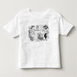 Beauty and the Beast, 1874 (litho) (b/w photo) T-shirts