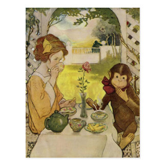 Beauty and the Beast by Jessie Willcox Smith Postcard