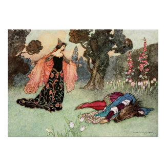 Beauty and the Beast by Warwick Goble Poster