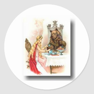 Beauty and the beast classic round sticker