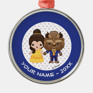 Beauty and the Beast Emoji Add Your Name Christmas Ornament