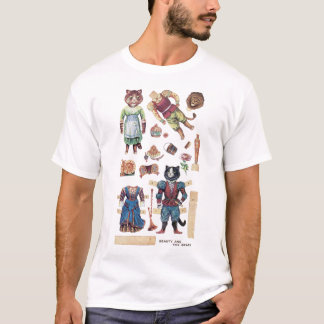 Beauty and the Beast, Louis Wain T-Shirt
