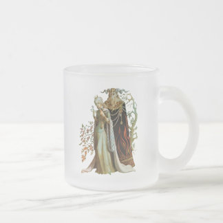 Beauty and the Beast Frosted Glass Mug
