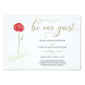 Beauty and the Beast Wedding Invitation