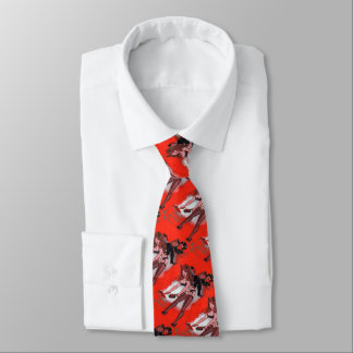 Beauty and the Krampus Vintage Xmas Christmas Tie