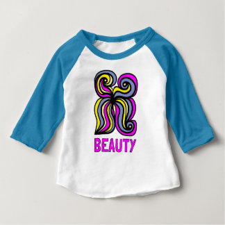 """Beauty"" Baby 3/4 Raglan T-Shirt"