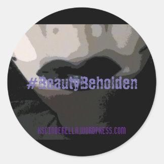 Beauty Beholden Sticker, Glossy, 1½ in per sheet Classic Round Sticker