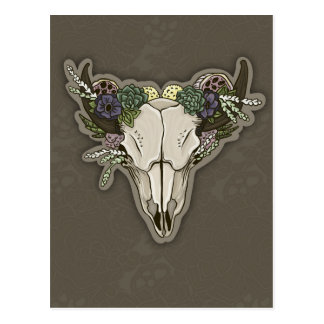 Beauty Boho Scull Postcard