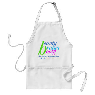 Beauty Brains Booty Standard Apron