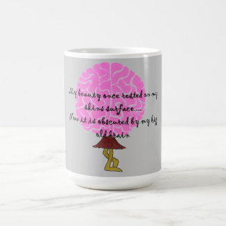Beauty & Brains Basic White Mug