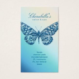 Beauty Business Card Salon Butterfly Blue