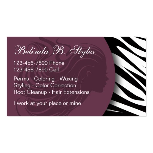 Beauty business cards zazzle for Zazzle business card