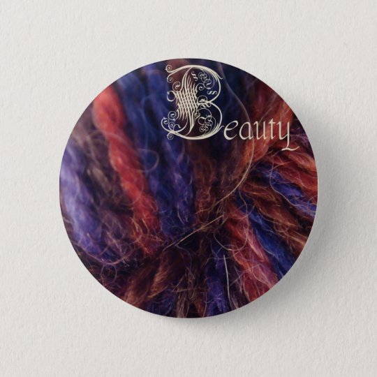 beauty button, evil stepmother 6 cm round badge