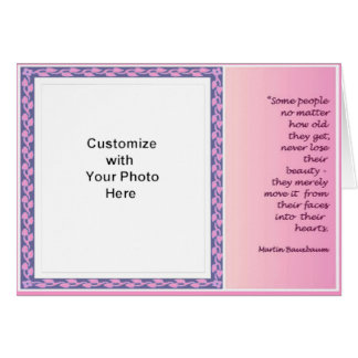 Beauty card pink