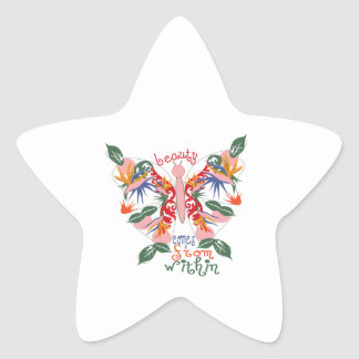Beauty Comes From Within Star Stickers