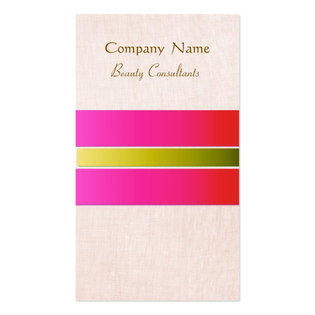 Beauty consultant business card template for Beauty business card templates