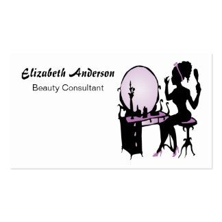 Beauty Consultant Chic Purple Black Hair Salon Pack Of Standard Business Cards