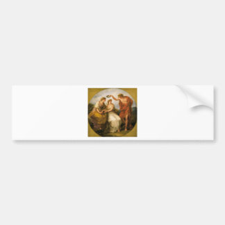 Beauty Directed by Prudence by Angelica Kauffman Bumper Sticker