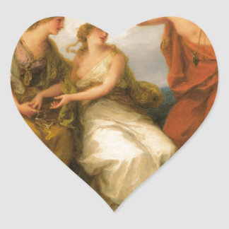 Beauty Directed by Prudence by Angelica Kauffman Heart Sticker