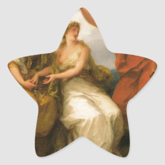 Beauty Directed by Prudence by Angelica Kauffman Star Sticker