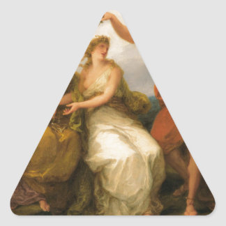 Beauty Directed by Prudence by Angelica Kauffman Triangle Sticker