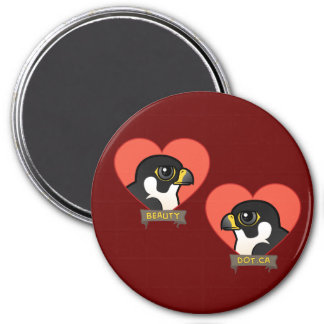 Beauty & Dot.Ca Hearts 7.5 Cm Round Magnet