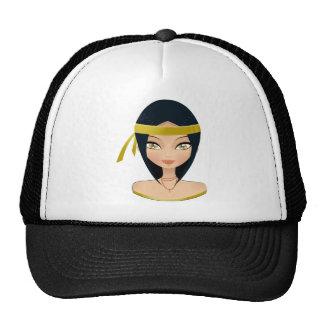 Beauty face mesh hats