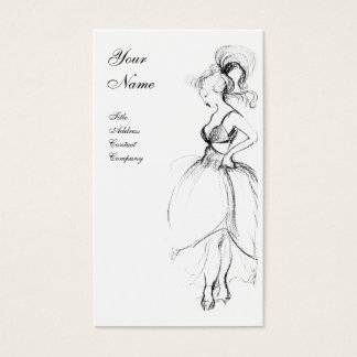 BEAUTY FASHION ,black and white Business Card