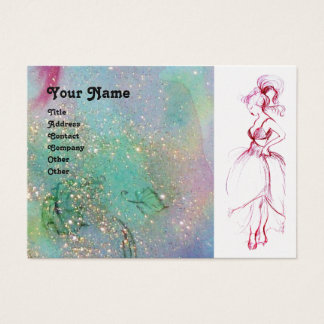 BEAUTY FASHION red pink blue green silver platinum Business Card
